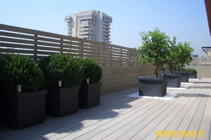 Roof garden - Claustra composite gris ...